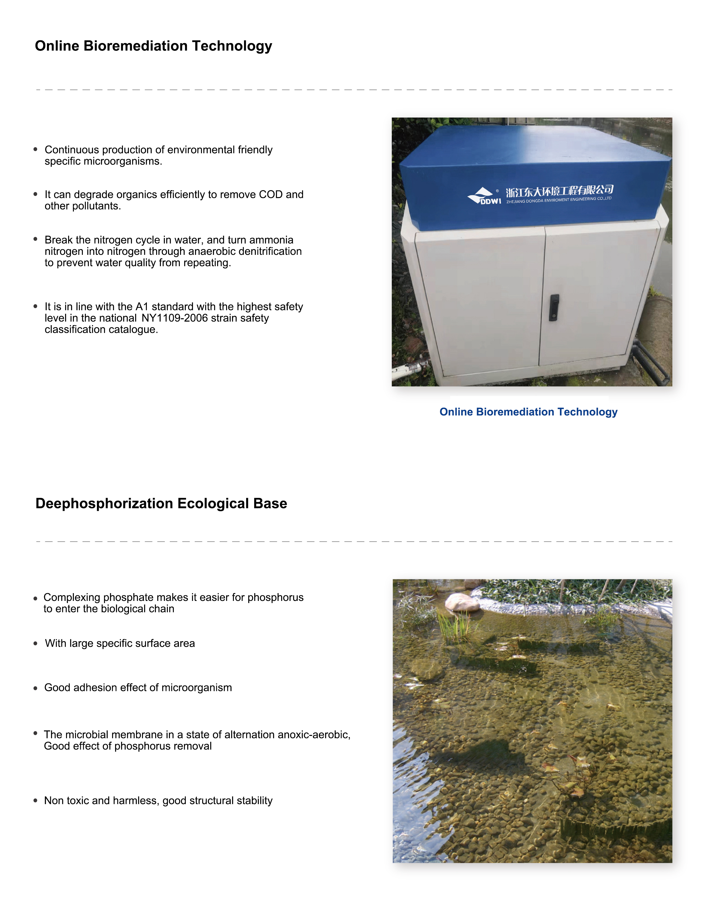 WATER ECOLOGICAL RESTORATION TECHNOLOGY